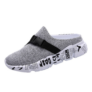 Wholesale Men Slippers Bandage Breathable Summer New Male Half Slippers Hole Clogs Shoes Wedge Boy Casual Slides Platform Shoes