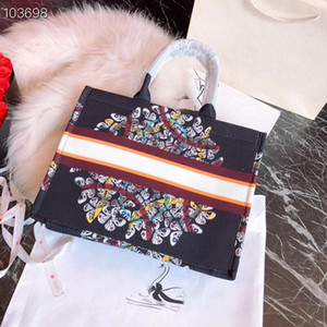 Wholesale 2020 Original brand designer 43cm canvas Handbags shopper tote shopper shoulder handbag bag bags purses women ladies crossbody 070651
