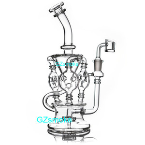 Wholesale rig types for sale - Group buy Klein Recycler Tornado Percolator Glass Bong Wax Pipe Bongs Water Pipes Oil Dab Rigs With Heady Quartz Banger Or Herb Bowl dabber nail