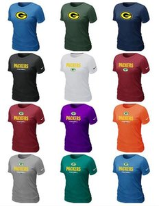 2019 The new trend Green Bay Women Packers Sideline Legend Pro Line by Fanatics Retro Polychrome Logo T-Shirts