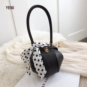 Wholesale Fashion Mini Round Handbag Women Small Summer Hobos Bag Designer Unique Cute PU leather Solid Mini Tote Bags Lady Casual Clutch