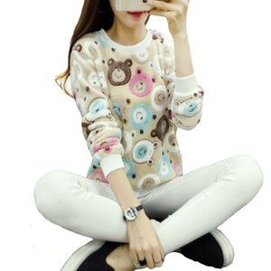 Wholesale Woman Sweaters Sweater Women Teddy Cute Bear Harajuku Christmas Women Sweaters Fashion Pullover Cashmere Knitted Sweater Warm Flannel