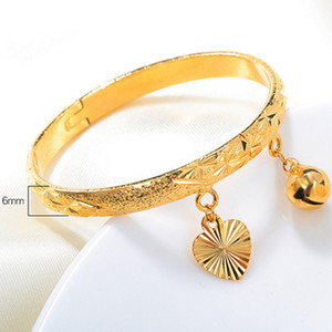 Wholesale child gold filled for sale - Group buy Lovely Children Bangle k Yellow Gold Filled Openable Star Carved Baby Bangle Bracelet Charm Kids Gift