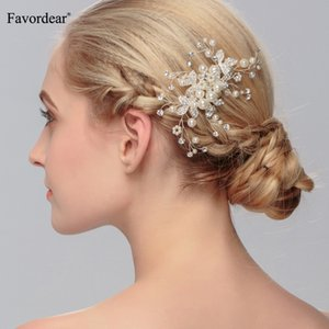 Wholesale Festival Silver Wedding Accessories Handmade Rhinestone Pearls Hair Comb Bridal Headwear Wedding Jewelry Beaded Hair Accessories