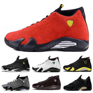 New Quality Jumpman 14 basketball shoes last shot desert sand bred black toe red car black yellow mens Retro trainers cheap Shoes Size 7-13