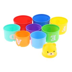 stapeltassen großhandel-Parrot Intelligence Development Toy Vogel Educational Interaktives Training Stacking Cups Spielzeug