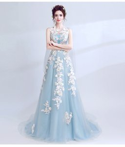 Wholesale 2019 European and American simple long bride toast clothing evening dress female tailed princess wedding dress