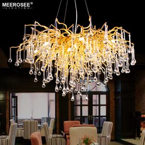 Wholesale 2019 New Modern Chandelier Luxurious Crystal Suspension Light G9 Gold Color Haning Lamp for Living room Dining room Foyer Hotel