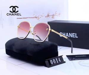 Luxury sunglasses for men and women fashion designer sunglasses large frame trim face sunglasses 6 colors model 0014