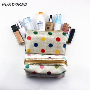 Wholesale 1 pc Colorful Dot Makeup Bag PVC Cosmetic Bag Laser Makeup Case Organizer Travel Beauty Toiletry Dropshipping