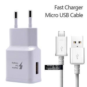 Wholesale A V1 A V A Home Wall Charger Adapter Kits Fast Charging Quick Charger in EU US Plug Adapter USB cable Data Sync Cable