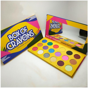 BOX OF CRAYONS Eyeshadow Palette 18 Colors Cosmetics Yellow iSHADOW Palette Shimmer Matte Eye shadow Beauty Eyes Makeup Palettes