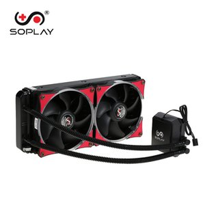 Wholesale SOPLAY Liquid Freezer Water Liquid Cooling System CPU Cooler Hydraulic Bearing mm Dual Adjustable PWM Fan with LED Light