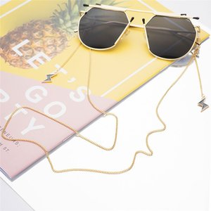Wholesale 2019 New Sunglasses Accessories Glasses Strap Eyeglass Metal Lightning Pendant Chain Reading Glasses Cord Holder Neck Strap