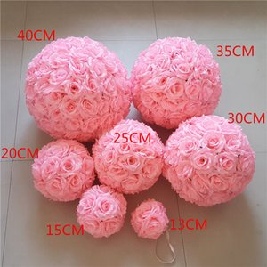 Wholesale 2019 Simulated Rose Ball Silk Cloth Encrypted Wedding Hanging Ball Factory Direct Sales Guide Rose Ball