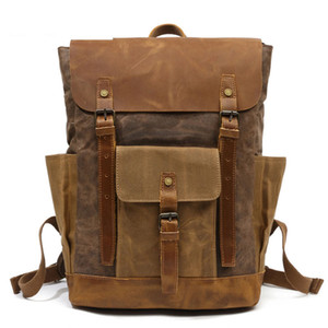 HOT fashion vintage canvas bag men backpack zipper black backpack men travel laptop vintage backpack men