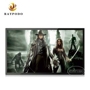 Wholesale Raypodo inch desktop and wall mount digital signage IPS LCD display for shop using with HDMI SD card slot black color