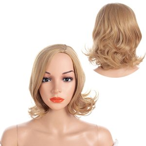 Wholesale Synthetic Hair Wig Blond Short Curly Heat Resistant Hair Wigs for Women Party Wigs Inch