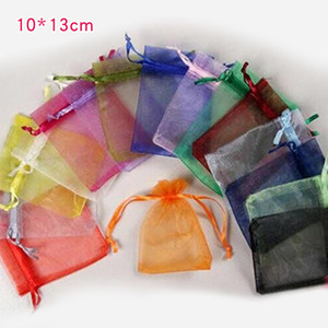 100 Pcs Lot Organza Drawstring Yarn Bag Pouches Candy Jewelry Party Wedding Favor Gift Pouch Bags 7X9CM 9X12CM 10X15CM 15*20cm