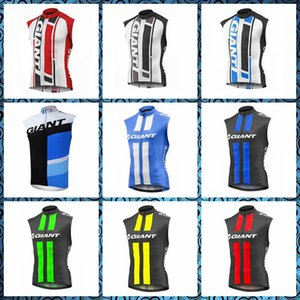 Wholesale 2019 New GIANT team Cycling Sleeveless jersey Vest Summer Men Outdoor Bike Factory direct sales U50914