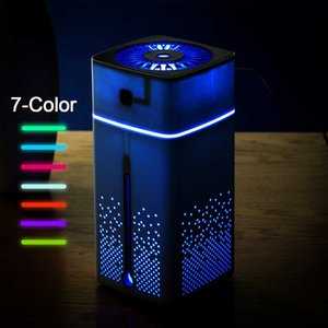 Wholesale LED Night Light Mist Purifier ML Air Humidifier Ultrasonic USB Diffuser Aroma Essential Oil Humidificador Black White