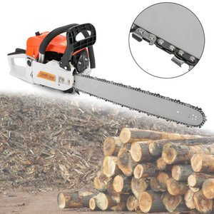 Wholesale chainsaws resale online - 52cc Chainsaw quot Bar Powered Engine Cycle Gasoline chain saw machine protable tree logging machine petrol chain saw wood cutting