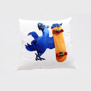 Wholesale pillow bolsters resale online - Heat printing Sublimation Pillow Case Solid color Pillow Covers Cushion for Home Car X45CM without insert bolster Oreiller A05