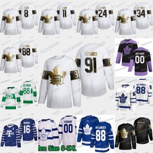 88 William Nylander 2020 Golden Edition Toronto Maple Leafs Tyson Barrie Mitch Marner John Tavares Auston Matthews Frederik Andersen Jersey