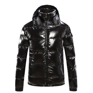 Wholesale Mens Designer Coat Hooded Winter Windbreaker Coat Down Thick Luxury Hoodie Down Coats Outwear Luminous Jackets Asian Size Men s Clothing