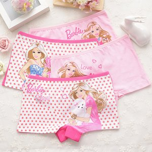 4pcs set Cotton Boxer Briefs Girls Underwear princess Children Kids Baby Panties Wholesale