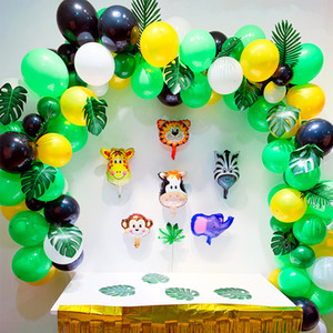 Wholesale 164pcs Birthday Party Decorations Kids Girls Jungle Safari Party Balloon Arch Boys Baby Shower Balloons Latex Balloon Garland SH190913