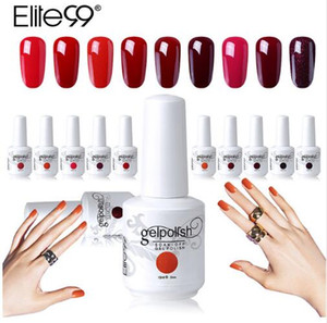 Wholesale Elite99 ml Wine Red Color Gel Polish Long Lasting Gel Nail Polish Soak Off UV LED Gel Varnishes DIY Nail Art Design