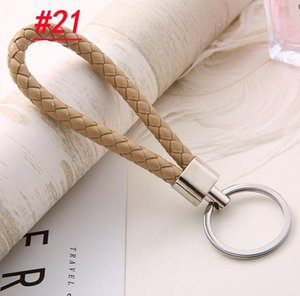 Wholesale Leather Rope Key Chain Car Pendant Weave Key Ring Men And Women Key Chain Valentine Day Gifts Wholesale