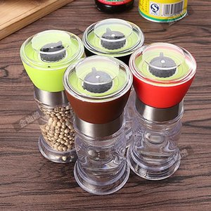 Kitchen Grinding Bottles Tools Salt Pepper Mill Grinder Spices Mill Cutter Machine Shaker Transparent Grind Cooking Accessories
