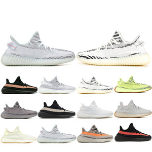 2019 New 350 Men Running Shoes Zebra Static Semi Frozen Yellow Beluga Black Bred Cream Sesame Designer Women Trainers Sports Sneakers