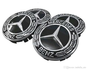 Wholesale 4Pcs Mercedes Benz Car Case Caps Cover Wheel Emblem Hub Center 75MM