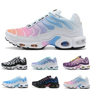 Wholesale New Rainbow GIRL Black Green Tn Mercurial Plus TN Ultra SE Running Shoes LADY Women Sliver gold orange Chaussures Athletic Sports Sneakers