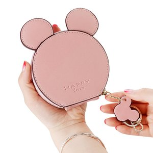 Wholesale Pu Leather Cute Mouse Big Ears Coin Purses Women s Kawaii Zipper Change Purse Wallet Girls Cartoon Key Small Pouch Bags