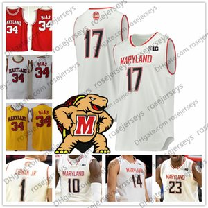 Wholesale Custom Maryland College Basketball Any Name Number Red White Yellow Anthony Cowan Jr Jalen Smith Men Youth th Terps Jersey