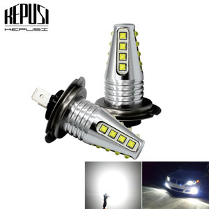 Wholesale 2X H7 W cree chip High Power Car LED Light Fog Auto Car Motor Truck Canbus DRL Day running light Driving lamp White V V