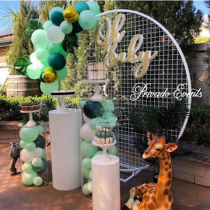 Wholesale wedding decoration Iron circle mesh arch Ring wedding background mesh a wreath shelf for party A ring frame for balloon
