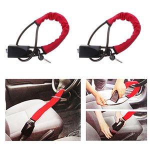 Wholesale 2x Universal Car Theft Protection Car Anti theft Steel Locking Steering Wheel Lock Strap Security Lock anti furto carro cm