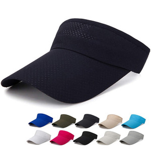 Outdoor Woman Visor Sun Hat Female Sunscreen Summer Sports Tennis Cap Fashion Lady Travel Beach Empty Top Hat ST383 on Sale