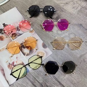 Wholesale Sunglasses Girls Designer Sunglasses Hexagon Fashion Boy Glasses Infant Sun Glasses Child Shades Kids Accessories Colors Optional YW3990
