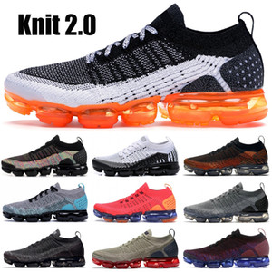 Triple Black 1.0 Knit 2.0 Safari Black Multi Color Racer Blue Team Red Running Sneakers Asphalt Grey Women Men Designer Shoes