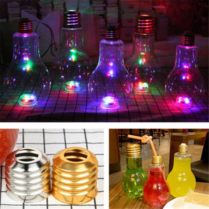 Wholesale DHL mixed order Creative Eye catching Light Bulb Shape Tea Fruit Juice Drink Bottle Cup Plant Flower Glass Vase Home Office Desk Decoration