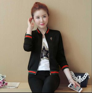 Wholesale Jacket Women Spring And Autumn New Women s Korean Fashion Sweater Wild Small Jacket Short Paragraph Baseball Clothing Female Tide
