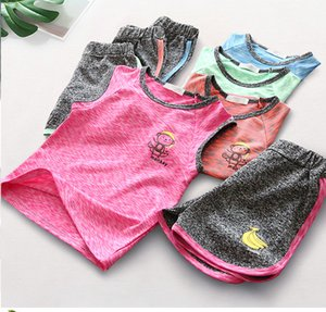 1-6Y Boys Girls Summer suits Basketball Jersey Children Quick drying suits set on Sale