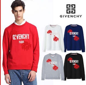 Wholesale Street Designer Mens Hoodies Fashion Pullover Letter Print Patchwork givenchy Long Sleeve Blouse High Street Style Good Quality Hoodies