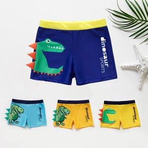 2019 Boy Kid Swimming Shorts Swimwear Summer Bathing Suit Beach Swim Trunks cartoon dinosaur crocodile pattern baby boy Shorts wholesale on Sale